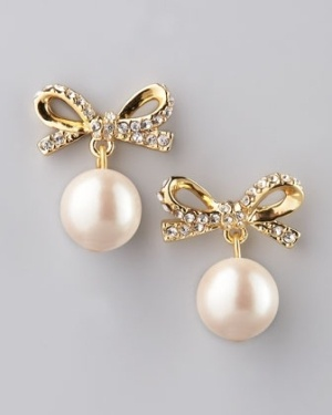 Bow-pearl-drop-earrings