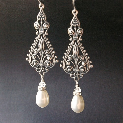 Filigree-pearl-drop-earrings