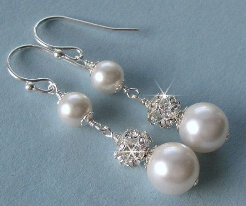 Fire-Ball-pearl-drop-earrings