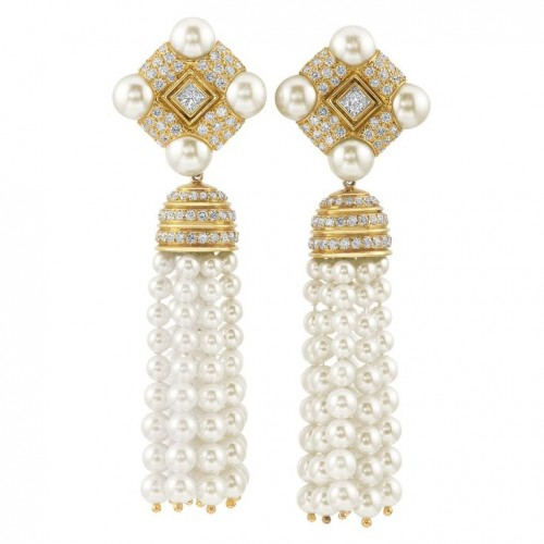 Fringe-pearl-drop-earrings