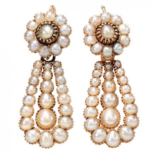 Georgian-pearl-drop-earrings