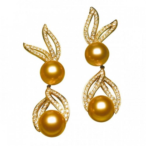 Golden-pearl-drop-earrings (2)