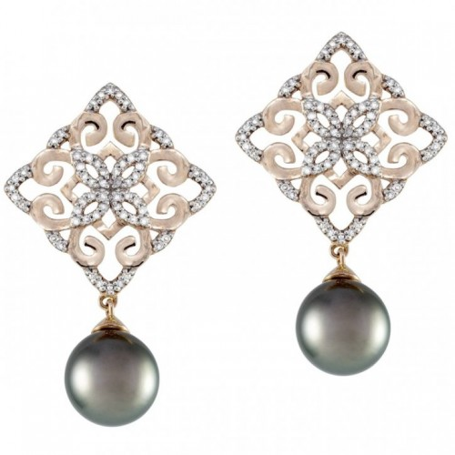 Pink-gold-pearl-drop-earrings