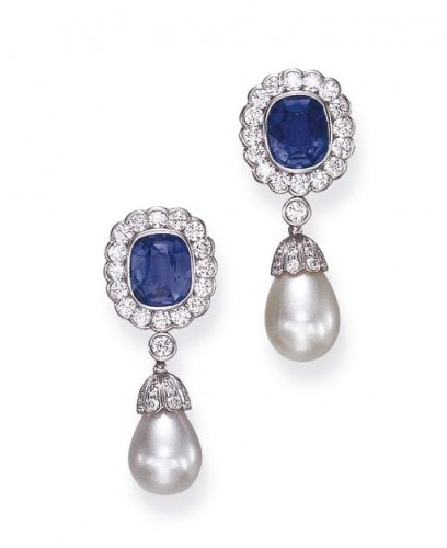 SAPPHIRE-pearl-drop-earrings
