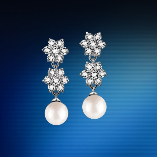 Stars-pearl-drop-earrings