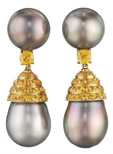 Yellow-Sapphire-pearl-drop-earrings