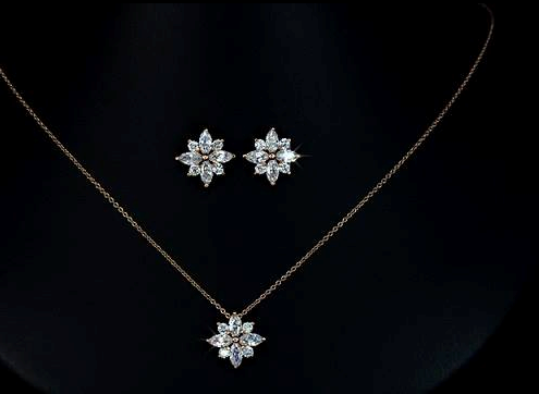 bridesmaid-jewelry-sets-flower