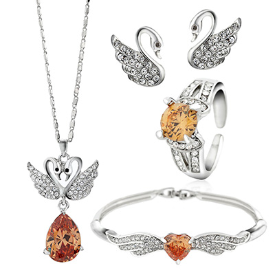 bridesmaid-jewelry-sets-swan