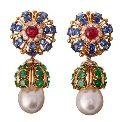 colorful-pearl-drop-earrings