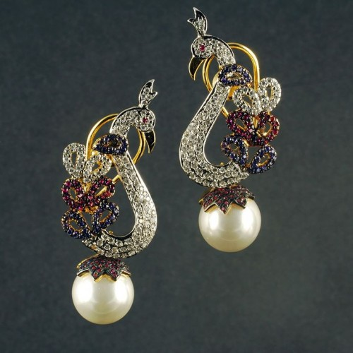 peacock-pearl-drop-earrings