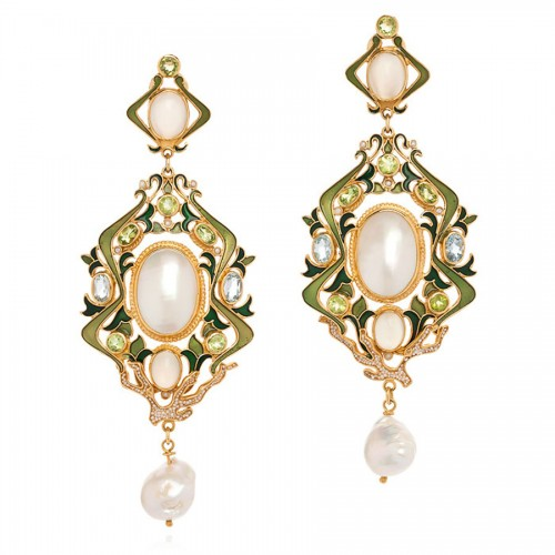 peridot-pearl-drop-earrings