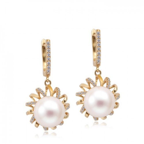 sun-pearl-drop-earrings