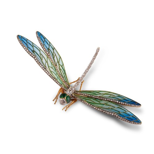 Dragonfly-Brooch -dress-clips