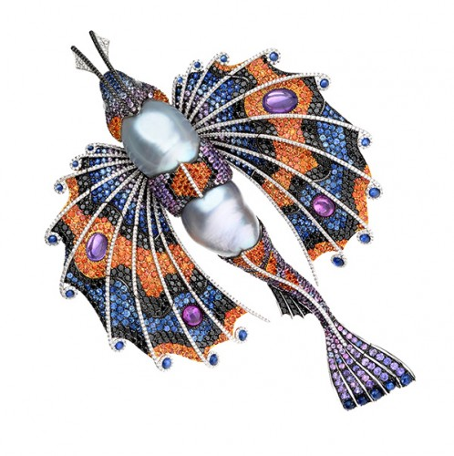 Fish brooch-and-dress-clip.