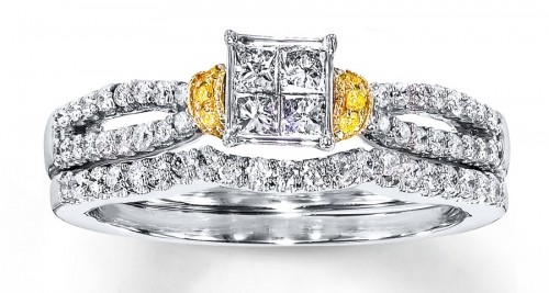 Four-princess-Cut-diamond-rings