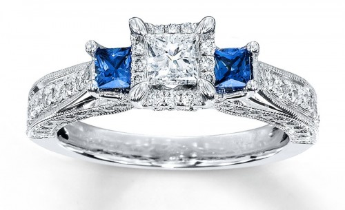 Sapphire-princess-Cut-diamond-rings