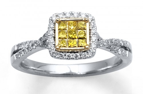 Yellow-diamond-princess-Cut-diamond-rings