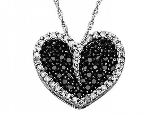 black-diamond-heart-necklace-for-women
