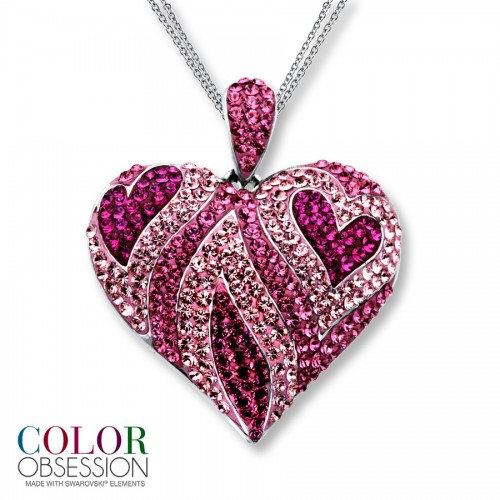 colors-pink-diamond-heart-necklace-for-women