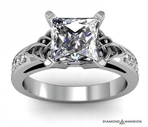 dazzling-princess-Cut-diamond-rings
