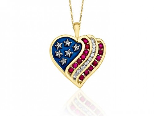 flag-diamond-heart-necklace
