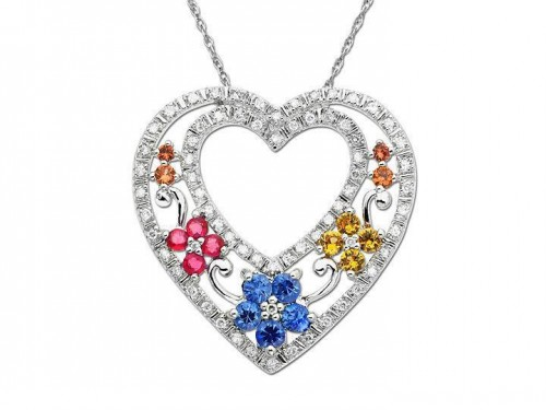 multi-color-diamond-heart-necklace-for-women