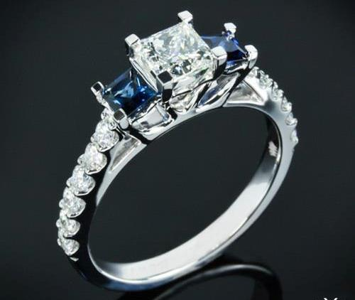 princess-Cut-diamond-rings-cute