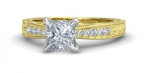 princess-Cut-diamond-rings-gold