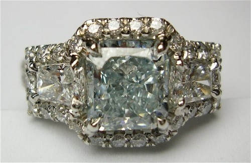 shimmering-princess-Cut-diamond-rings