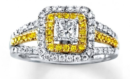 shinning-princess-Cut-diamond-rings