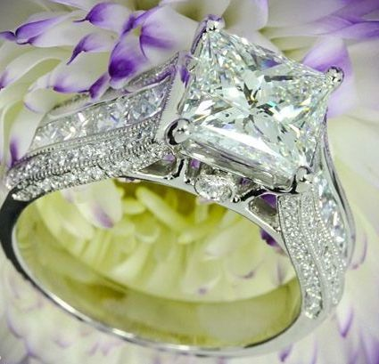 wedding-princess-Cut-diamond-rings